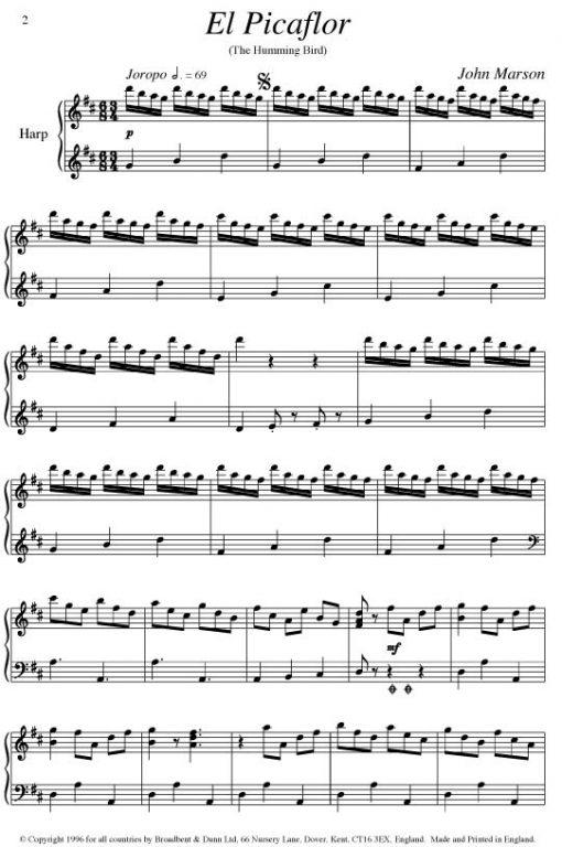 John Marson - El Picaflor (Harp) - Digital Download
