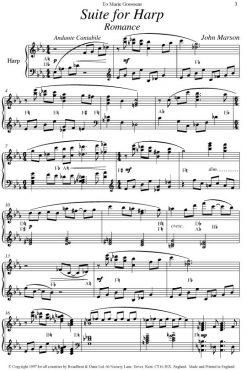 John Marson - Suite for Harp - Digital Download