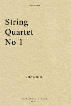 John Marson - String Quartet No. 1