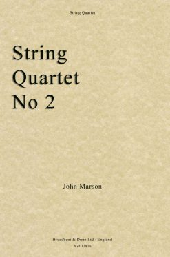 John Marson - String Quartet No. 2