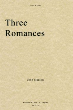 John Marson - Three Romances (Violin & Piano)