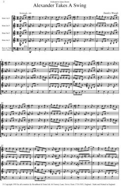 Stanley Woods - Alexander Takes A Swing (Horn Quartet with Double Bass or Tuba and optional Drums) - Score Digital Download