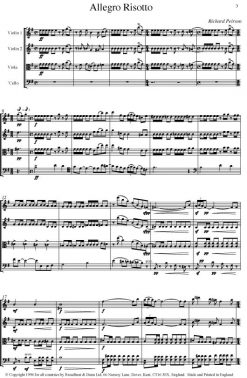Richard Peirson - Allegro Risotto (String Quartet) - Score Digital Download
