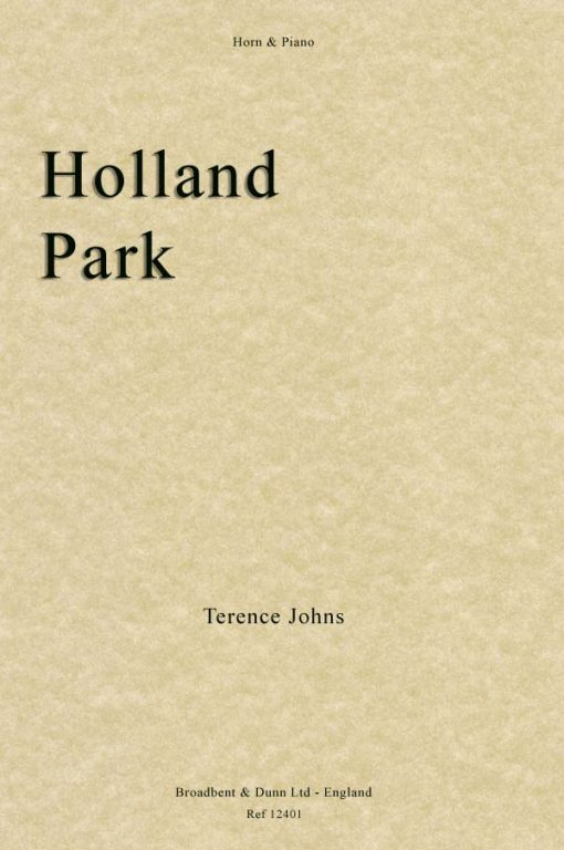 Terence Johns - Holland Park (Horn & Piano)