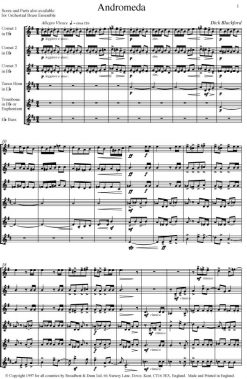 Dick Blackford - Andromeda (Brass Sextet for Brass Band Instruments) - Score Digital Download