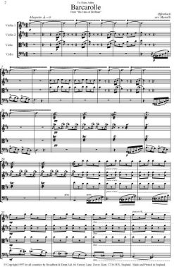 Offenbach - Barcarolle from The Tales of Hoffmann - (String Quartet Score) - Score Digital Download