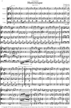 Tchaikovsky - Humoresque