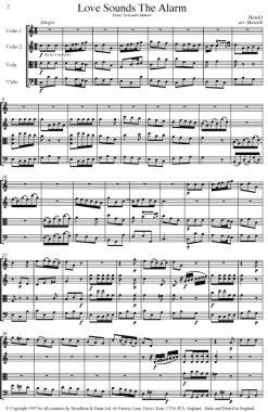 Handel - Love Sounds The Alarm from Acis and Galatea (String Quartet Score) - Score Digital Download