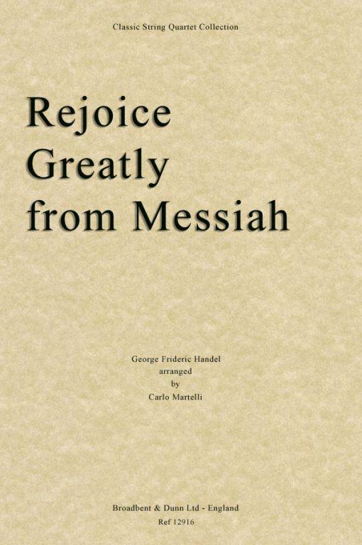 Handel - Rejoice Greatly from Messiah (String Quartet Score)