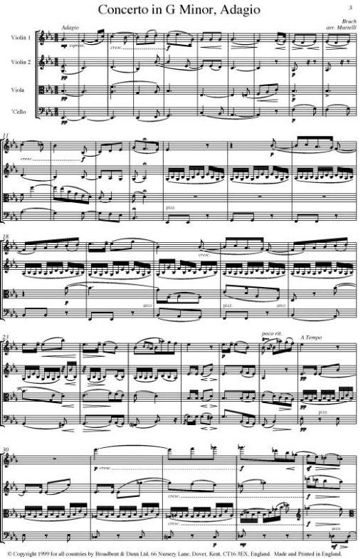 Bruch - Adagio from Violin Concerto in G Minor