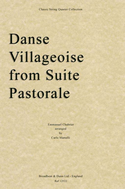 Chabrier - Danse Villageoise from Suite Pastorale (String Quartet Score)