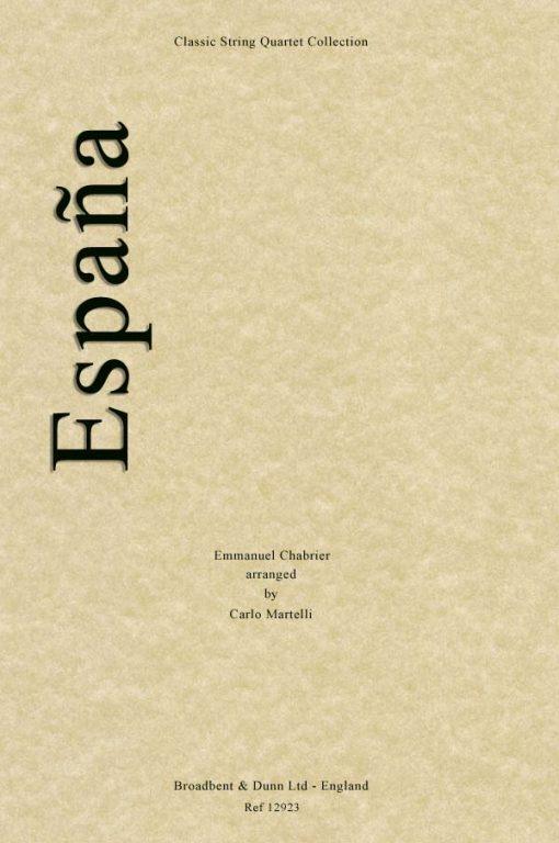 Chabrier - Espaà±a (String Quartet Score)