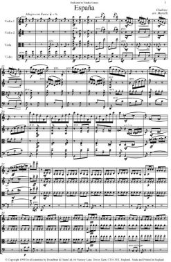 Chabrier - Espaà±a (String Quartet Score) - Score Digital Download