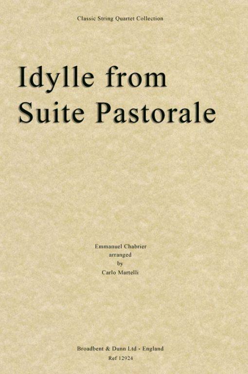 Chabrier - Idylle from Suite Pastorale (String Quartet Score)