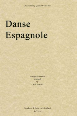 Granados - Danse Espagnole from Spanish Dances for Piano (String Quartet Score)