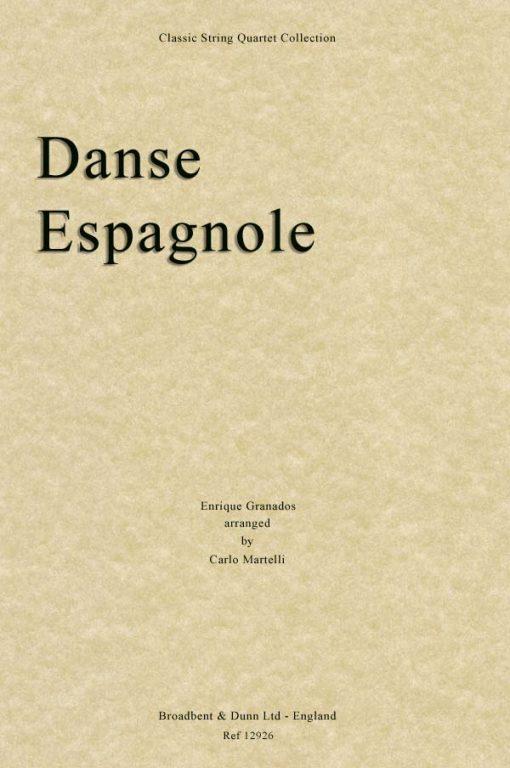 Granados - Danse Espagnole from Spanish Dances for Piano (String Quartet Score)
