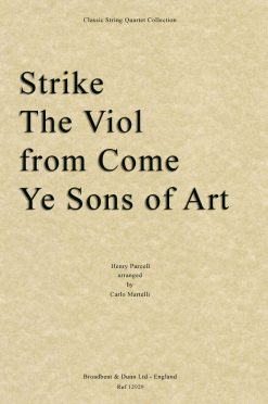 Purcell - Strike The Viol from Come Ye Sons of Art (String Quartet Score)