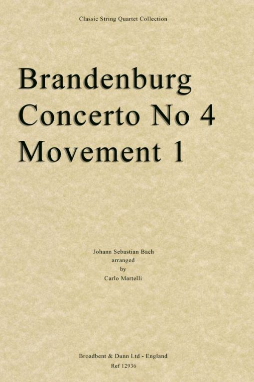 Bach - Brandenburg Concerto 4
