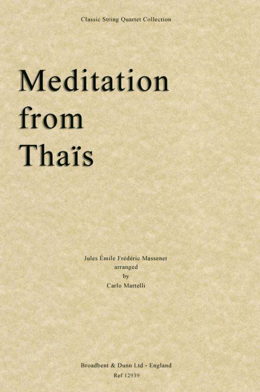Massenet - Meditation from Thaïs (String Quartet Score)