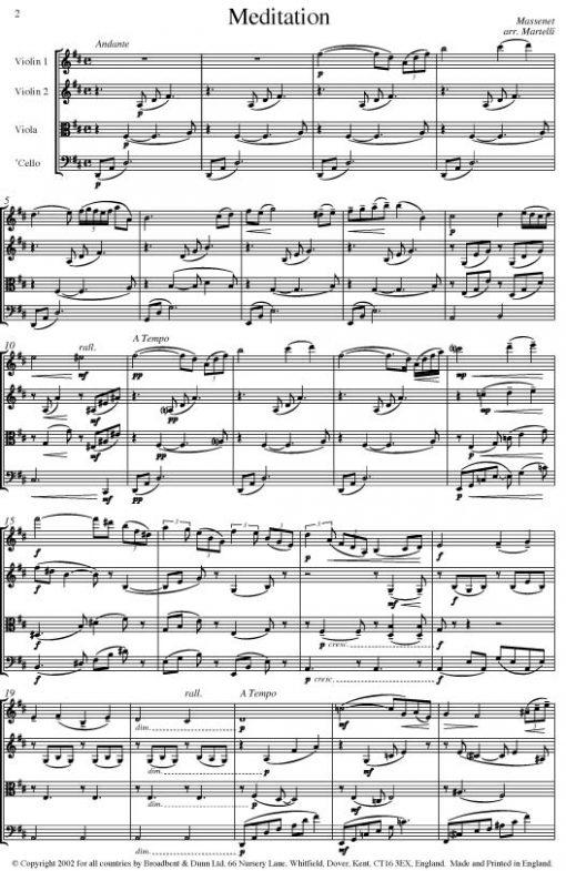 Massenet - Meditation from Thaïs (String Quartet Parts) - Parts Digital Download