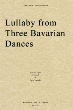 Elgar - Lullaby from Three Bavarian Dances (String Quartet Score)