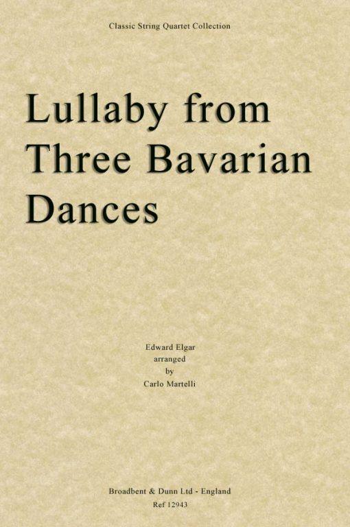 Elgar - Lullaby from Three Bavarian Dances (String Quartet Parts)