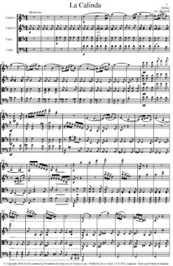 Delius - La Calinda from Koanga (String Quartet Score) - Score Digital Download