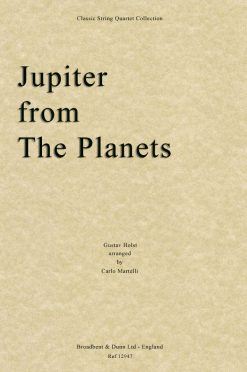 Holst - Jupiter from The Planets (String Quartet Score)