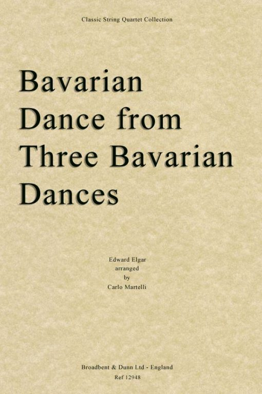 Elgar - Bavarian Dance from Three Bavarian Dances (String Quartet Parts)