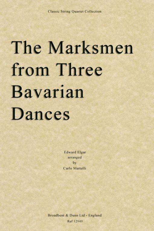 Elgar - The Marksmen from Three Bavarian Dances (String Quartet Score)