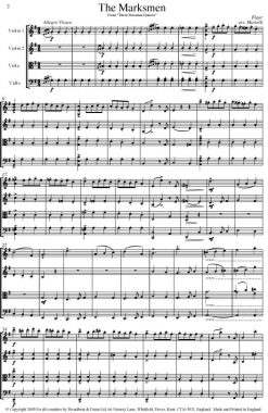 Elgar - The Marksmen from Three Bavarian Dances (String Quartet Score) - Score Digital Download
