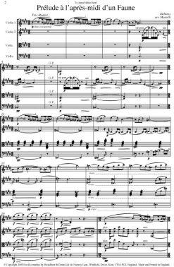 Debussy - Prélude à L'après-midi d'un Faune (String Quartet Score) - Score Digital Download