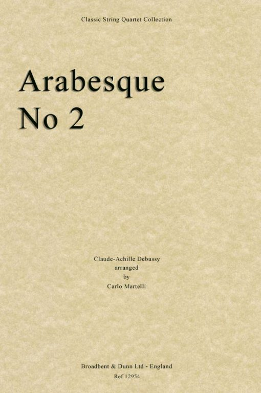 Debussy - Arabesque No. 2 (String Quartet Score)
