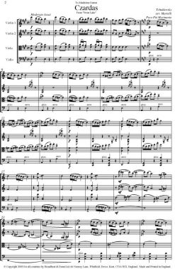 Tchaikovsky - Czardas from Swan Lake (String Quartet Score) - Score Digital Download