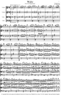 Tchaikovsky - Waltz from The Sleeping Beauty (String Quartet Score) - Score Digital Download