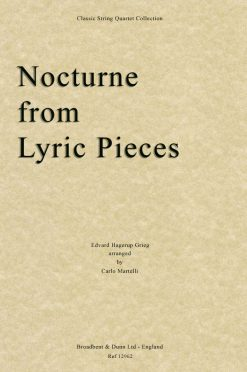 Grieg - Nocturne from Lyric Pieces (String Quartet Score)