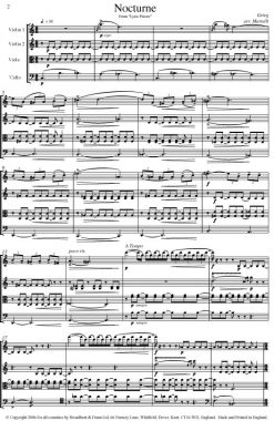 Grieg - Nocturne from Lyric Pieces (String Quartet Score) - Score Digital Download