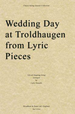 Grieg - Wedding Day at Troldhaugen from Lyric Pieces (String Quartet Score)