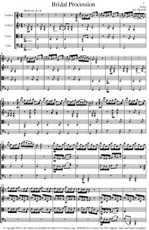 Grieg - Bridal Procession from Folk Life