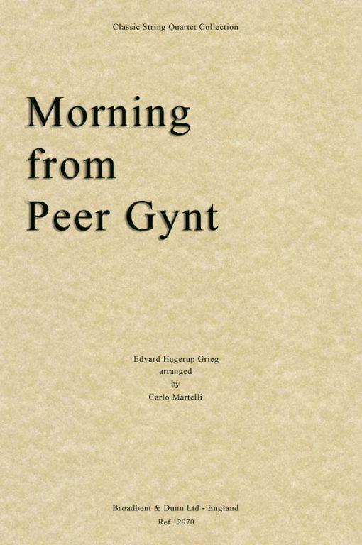 Grieg - Morning from Peer Gynt (String Quartet Score)