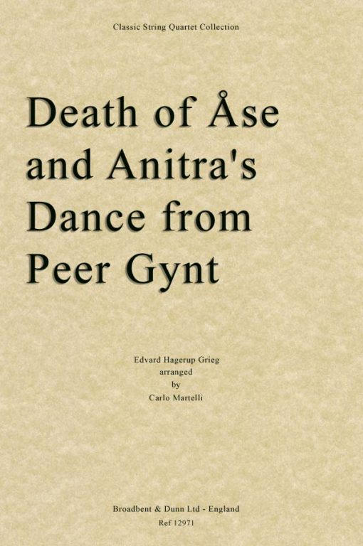 Grieg - Death of Åse and Anitra's Dance from Peer Gynt (String Quartet Score)