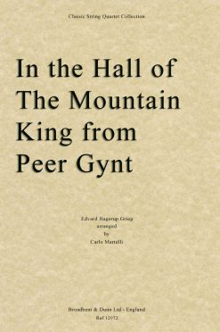 Grieg - In the Hall of the Mountain King from Peer Gynt (String Quartet Score)