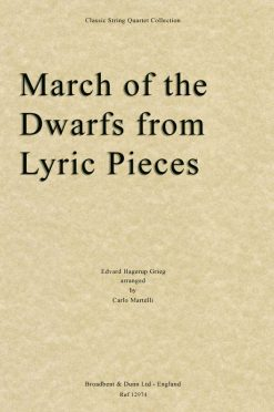 Grieg - March of the Dwarfs from Lyric Pieces (String Quartet Score)