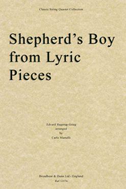 Grieg - Shepherd's Boy from Lyric Pieces (String Quartet Score)