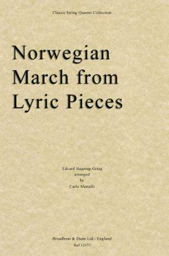 Grieg - Norwegian March from Lyric Pieces (String Quartet Score)