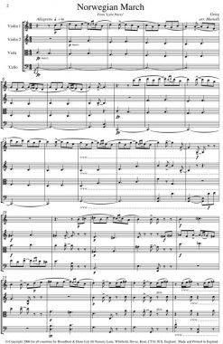 Grieg - Norwegian March from Lyric Pieces (String Quartet Score) - Score Digital Download