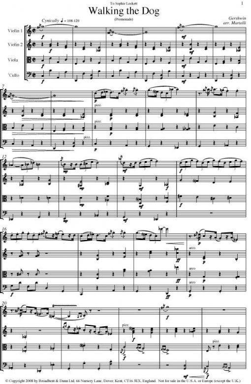 Gershwin - Walking The Dog