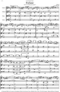 Ravel - Forlane from Le Tombeau de Couperin (String Quartet Parts) - Parts Digital Download