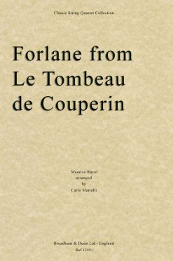 Ravel - Forlane from Le Tombeau de Couperin (String Quartet Score)