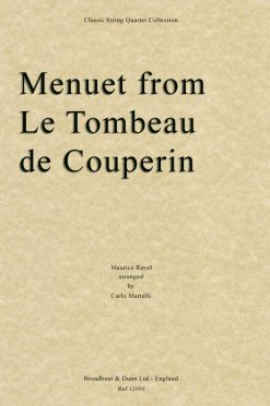 Ravel - Menuet from Le Tombeau de Couperin (String Quartet Score)